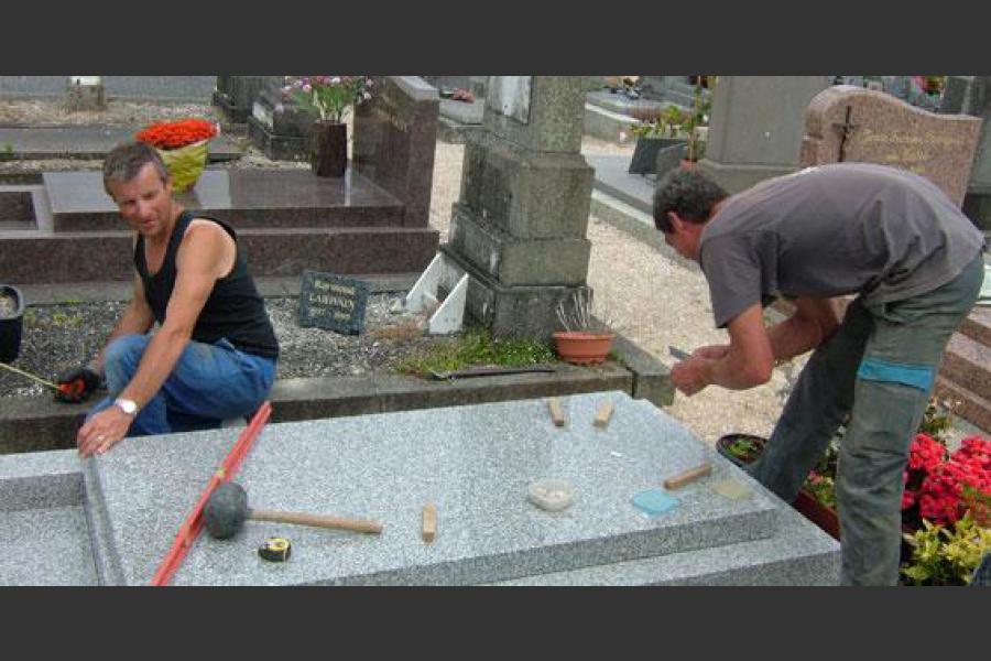 Marbrier funeraire pabu